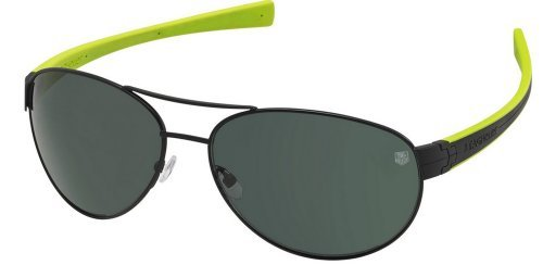 Tag Heuer Lrs 0253 Sunglasses 309 Black/Black/Precis Green New