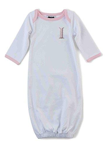 Mud Pie Baby Girl Initial [I] Sleep Gown (Baby Girl Gown Mud Pie)