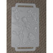 Looney Tunes toons plastic jello Gelatin Candy ICE TRAY Cube Mold - Daffy Duck Sylvester cat, Tweety Bird, Porky Pig, Taz, Bugs - Tune Raccoon