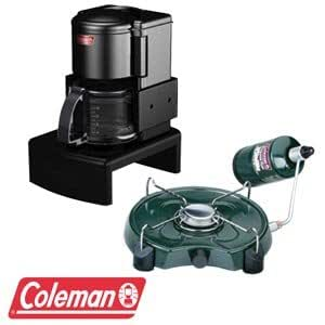 Amazon.com: Coleman Coffee Maker with Propane Burner Combo, 7500 BTU Burner, Easy Pour Decanter ...
