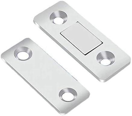 Lot de 4 loquets magn/étiques ultra fins pour porte de placard de cuisine
