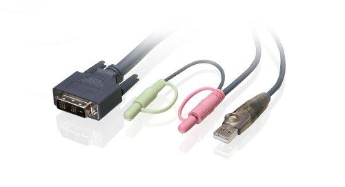 IOGEAR Single Link DVI-D USB KVM Cable, 10 Feet, G2L7D03U