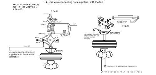 Universal Ceiling Fan Remote Control and Receiver Complete Kit replace Hampton Bay Harbor Breeze Hunter Westinghouse KUJCE9103 2AAZPFAN-53T FAN-11T FAN-53T FAN-28R -Pikeman by PIKEMAN (Image #6)