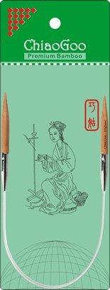 ChiaoGoo Bamboo Circular 12'' Knitting Needles: Size 8 by ChiaoGoo