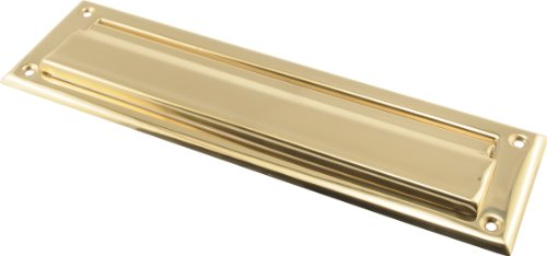 """The Hillman Group The Hillman Group 852390 2 x 11"""" Mail Slot- Solid Brass - Bright Brass Finish 1-Pack"""