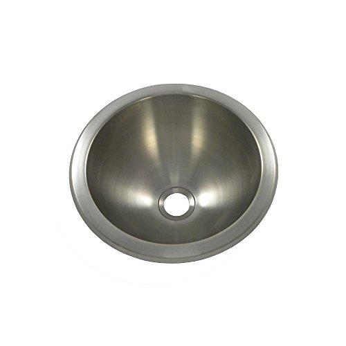 Opella 18105.046 Undercounter/Drop-In Bathroom Sink, Brushed (Round Drop In Bathroom Sink)