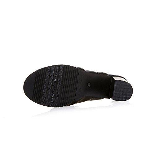 Mules orteil d'été US6 CN37 Haut Dames épais Sandales 5 5 EU37 Sexy Chaussures Tongs Talon 5 Talon ouvert 7 femmes Chaussons UK4 OqwI0Aq