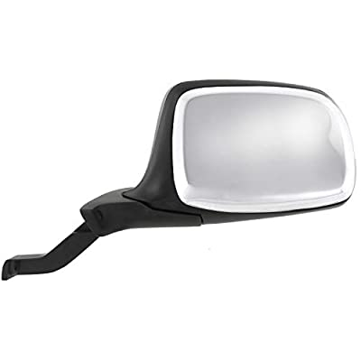 Manual Mirror compatible with Ford F-Series 92-97 Right and Left Side Manual Folding Non-Heated Paddle Style Chrome: Automotive