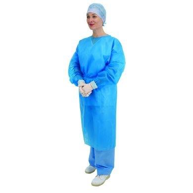 Paquete con 10 batas médicas Premier, desechables, con mangas largas y puños elásticos, color azul, 5520: Amazon.es: Salud y cuidado personal
