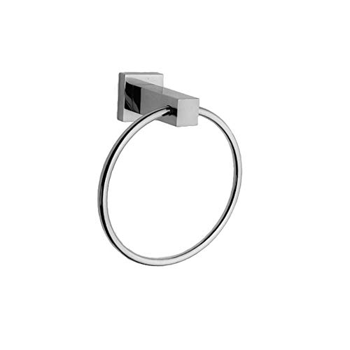 - Newport Brass 19-09 Cube 2 Solid Brass Towel Ring, Polished Chrome