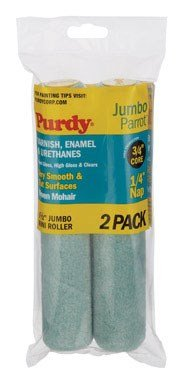 Purdy 140626040 Jumbo Mini Parrot Roller Replacement, 2-Pack, 6-1/2 inch x 1/4 inch nap ()