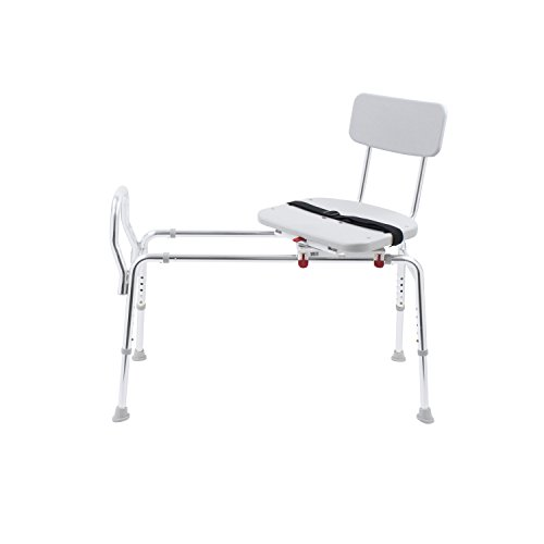 Eagle Health Supplies Swivel Sliding Shower Transfer Bench with Adjustable Height, No Tool Assembly by Eagle Health Supplies (Image #4)