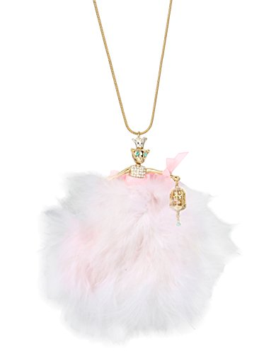 Betsey Johnson Marie Antoinette Mouse Ballerina Long Pendant Necklace, 32.5