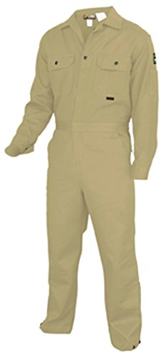 - MCR Safety DC1T52 Deluxe Contractor Flame Resistant (FR) Coveralls, Tan, Size 52, Chest 52-Inch, Waist 48-Inch, Inseam 30-Inch