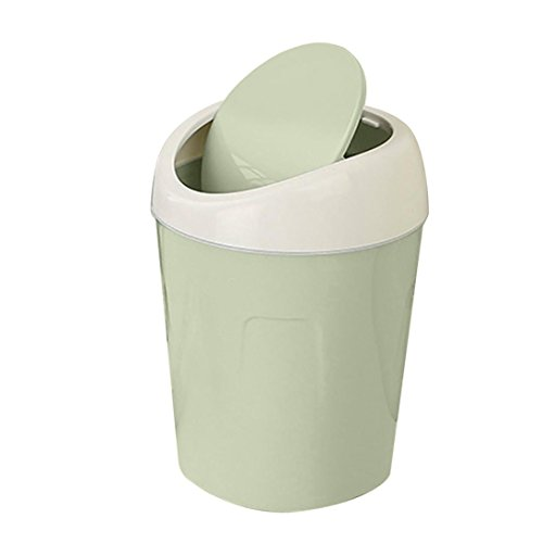 String Tri Top (Mchoice Trumpet Desktops Mini Creative Covered Kitchen Living Room Trash Can (Green))