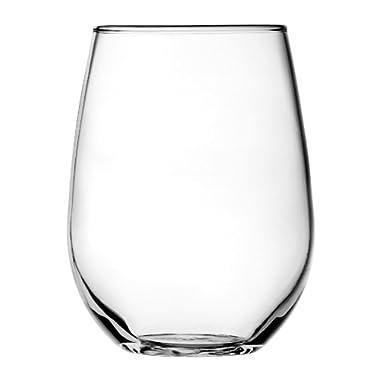 Anchor Hocking 15-Ounce Vienna Stemless White Wine Beverage Set, Set of 4