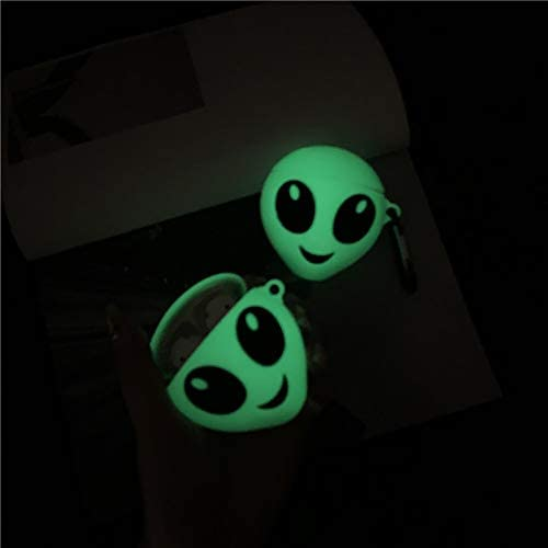Popular Ins Style Best Gift for Girl Boy ZAHIUS Airpods Silicone Case Funny Cover Compatible for Apple Airpods 1/&2 Luminous Alien