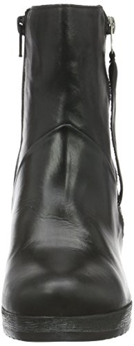 Schwarz W Negro Jja15 Boot Casa por Estar Mujer Zapatillas 10 de Bianco Black Platform Zip para E7OwIBq