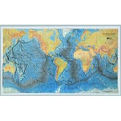 Ocean Floor Raised Relief Map with Teacher's ()