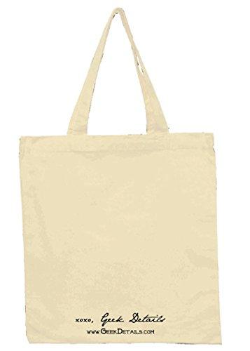 Canvas Reusable Tote Bag I Like Big Books and I Cannot Lie