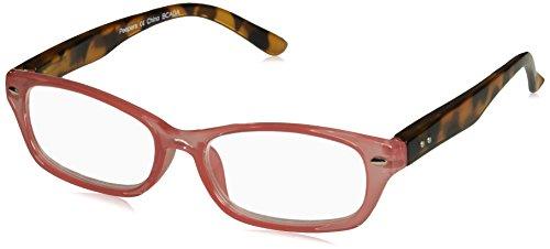 Peepers Women's Straight & Narrow 2391275 Rectangular Reading Glasses, Pink, - Glasses Narrow Reading