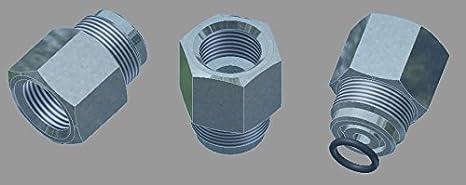 HTD Adaptador de Rosca de Aire comprimido g 5/8 Rosca Interior - Nitrox M26 x 2, Rosca Exterior: Amazon.es: Deportes y aire libre