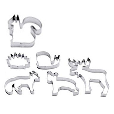 HJLHYL Animal Pastry Cutter Xmass Deer Cookie Cake Maker,Set of 6