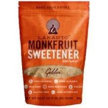 Lakanto Sugar Free Golden Monkfruit Sweetener, 28.22 Ounce -- 8 per case.