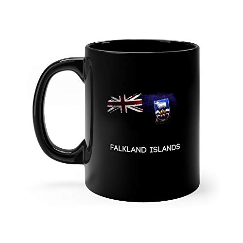 (Falkland Islands Made Of Glitter Sparkle Brush Paint Stanley Coffee Awesome Mugs Ceramic 11oz)