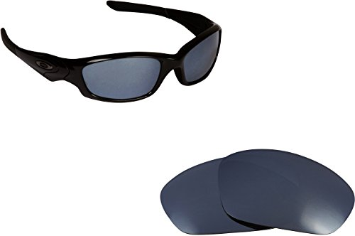 New SEEK Replacement Lenses Oakley STRAIGHT JACKET - Polarized Black Iridium