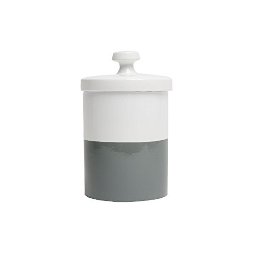 Ceramic Dog Treat Jar - Waggo Dipped Color Ceramic Dog Treat Jar (Dolphin)