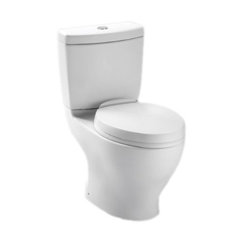 Toto CST412MF.10No.01 Aquia Dual Flush Toilet, 1.6-GPF and 0.9-GPF with 10-Inch Rough-In, Cotton - Coupled Toilet 12 Rough