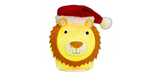 Philips Christmas USB Powered LED Glitter Lion with Santa Hat