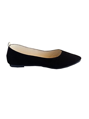 Inception Pro Infinite Inception Pro Women's Classic Suede Flats with Endless ® black-PX-001 6mE0Dba