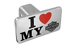 Harley-Davidson Trailer Hitch Cover Plug, Slogan Series I Love My Harley