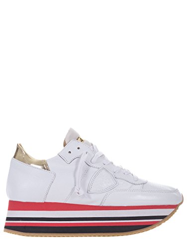 Philippe Model Dames Tennisschoen Wit Bianco