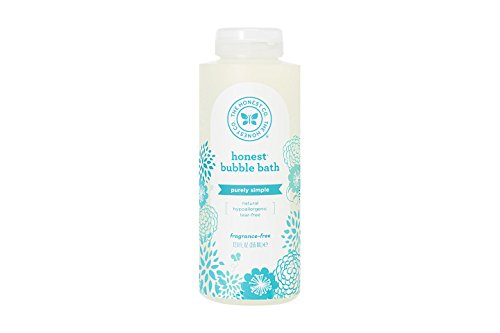 (Honest Purely Simple Hypoallergenic Bubble Bath with Naturally Derived Botanicals for Sensitive Skin, Fragrance Free, 12 Fluid Ounce)