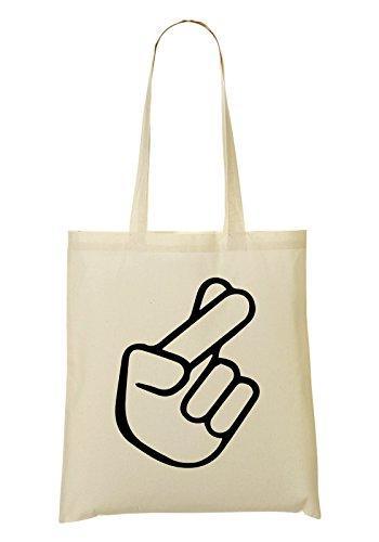 Good Luck Fingers Crossed Handbag Shopping Bag