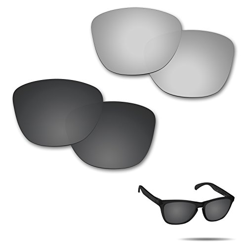 Fiskr Anti-Saltwater Polarized Replacement Lenses for Oakley Frogskins Sunglasses 2 Pairs Packed