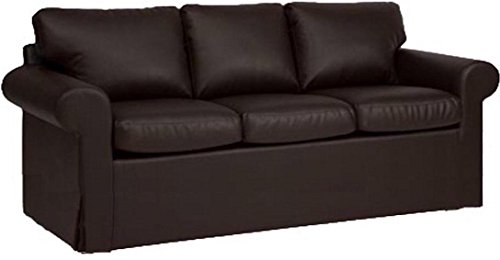 The Sofa Cover is 3 Seat Sofa Slipcover Replacement. It Fits Pottery Barn PB Basic Three Seat Sofa (Leather Brown)
