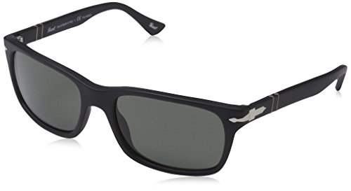 Persol Men's PO3048S - Polarized Black Antique/Grey Polarized by Persol
