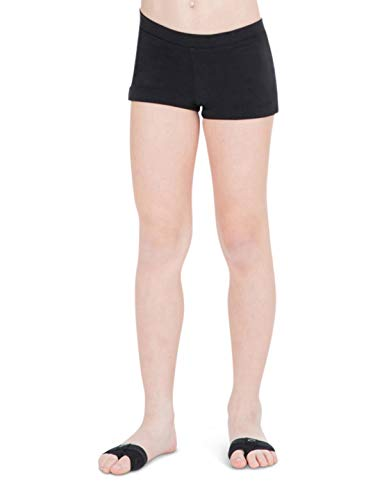 Capezio Little Girls' Boy Cut Low Rise Short,Black,S (4-6)