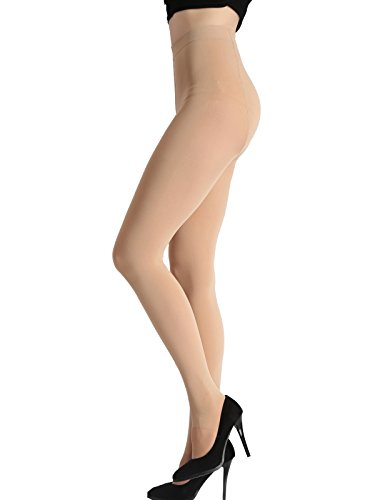 Beluring Womens 120D Opaque Footed Gym Pantyhose Tights Stockings Nude ()