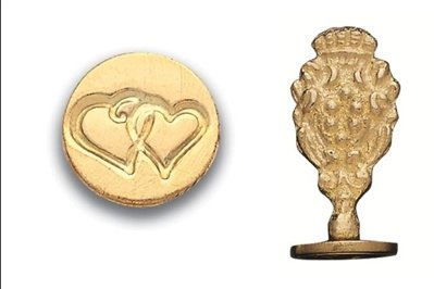 (Brass Wax Seal Stamp - Double Heart-771H)