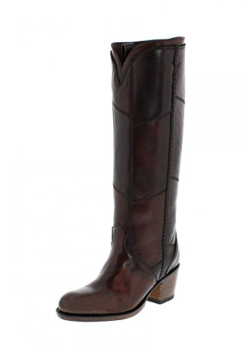 Sendra Boots Stella 13695 Miele/Damen Fashion Stiefel Dunkelbraun/Damenstiefel Braun/Fashion Stiefel Salvaje Miele