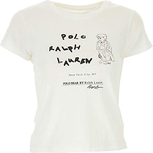 Polo Ralph Lauren T-Shirt Donna Mod. 211-752370 Bianco: Amazon.es ...