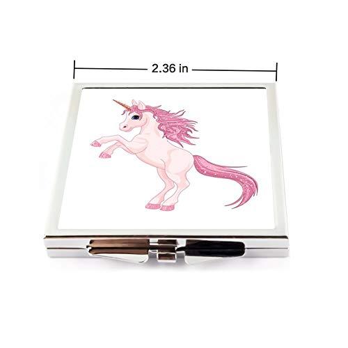 Square Make Up Mirror Small Fold Planar Mirror for Purse Pocket -