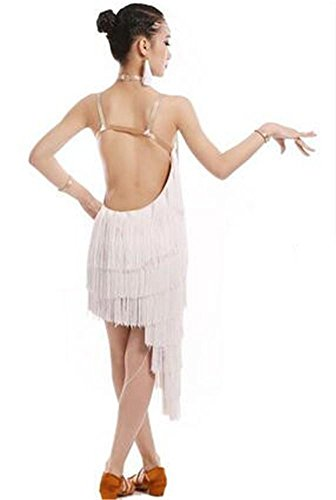 de dance latine Robe white long dance dance show danse professionnelle dance show 110cm show de danse shining d1E1XcqWZw