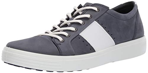ECCO Men's Soft 7 Sneaker, Marine/White Summer, 45 M EU (11-11.5 US)
