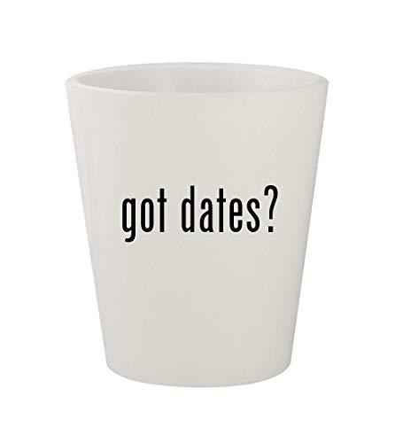 got dates? - Ceramic White 1.5oz Shot Glass